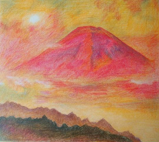 赤富士のジンクス HISAKO絵画