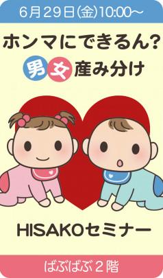 danjo UmiWake bana 238x405 - 『ホンマにできるん?男女産み分け』HISAKOセミナーご案内