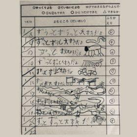 本読みカード、メガ進化!〜1年生の宿題〜